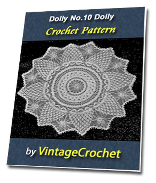 Pay for Doily No.10 Vintage Crochet Pattern Ebook