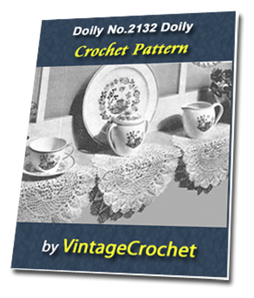 Pay for Doily No.2132 Vintage Crochet Pattern Ebook
