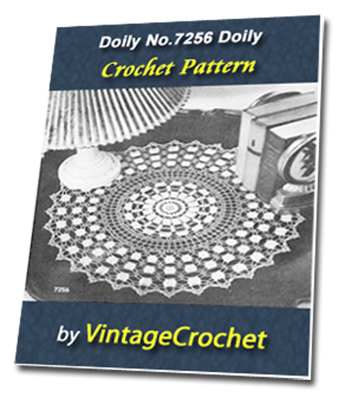 Pay for Doily No.7256 Vintage Crochet Pattern Ebook