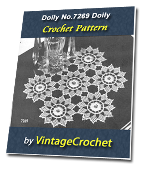 Pay for Doily No.7269 Vintage Crochet Pattern Ebook