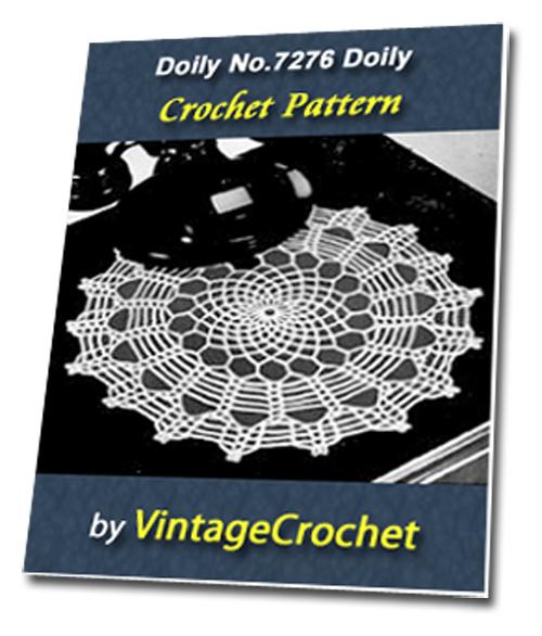 Pay for Doily No.7276 Vintage Crochet Pattern Ebook
