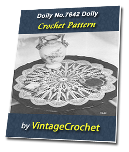 Pay for Doily No.7642 Vintage Crochet Pattern Ebook