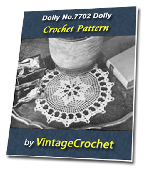 Pay for Doily No.7702 Vintage Crochet Pattern Ebook