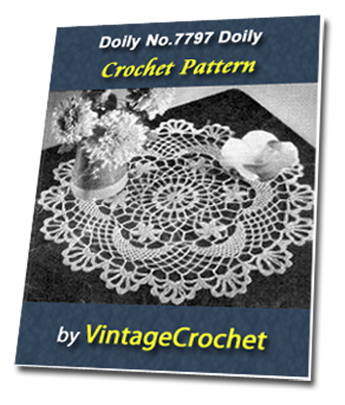 Pay for Doily No.7797 Vintage Crochet Pattern Ebook