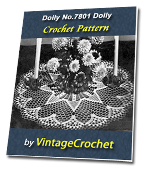 Pay for Doily No.7801 Vintage Crochet Pattern Ebook