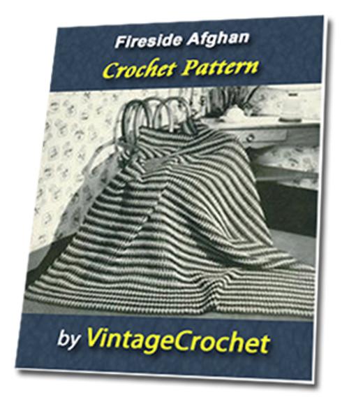 Pay for Fireside Afghan Vintage Crochet Pattern