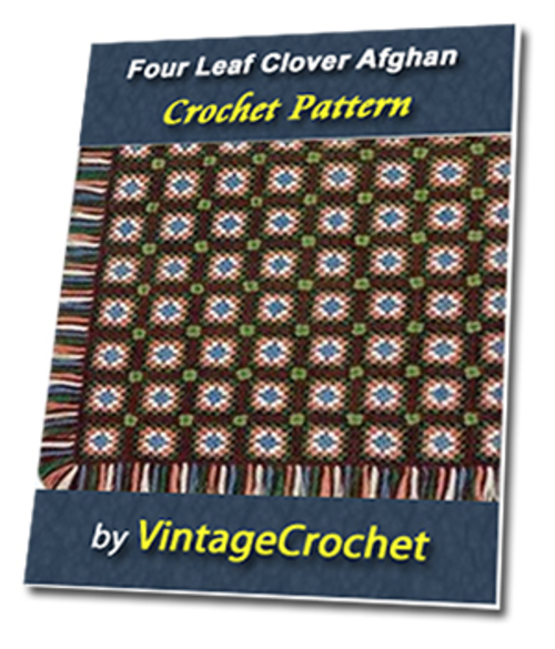 Pay for Four Leaf Clover Afghan Vintage Crochet Pattern