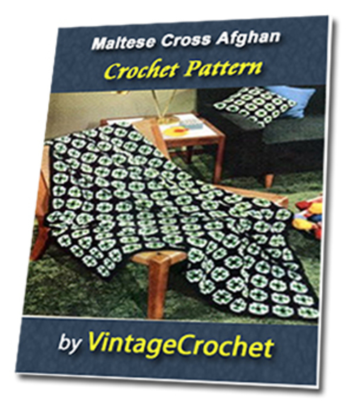 Maltese Cross Afghan Vintage Crochet Pattern - Download eBooks