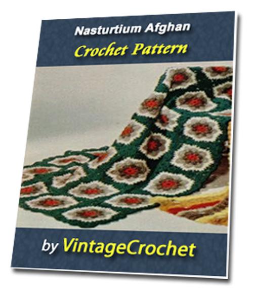 Pay for Nasturium Afghan Vintage Crochet Pattern eBook
