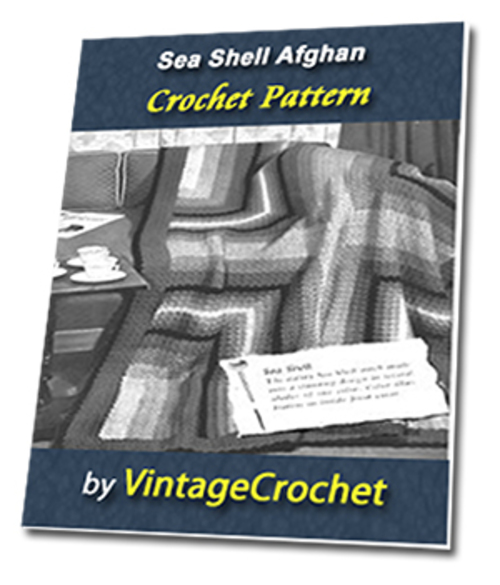 Pay for Seashell Afghan Vintage Crochet Pattern