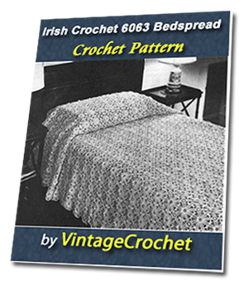 Pay for Irish Crochet Bedspread No. 6063 Vintage Crochet Pattern
