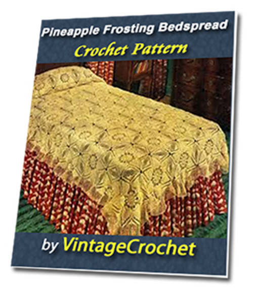 Pay for Pineapple Frosting Bedspread Vintage Crochet Pattern
