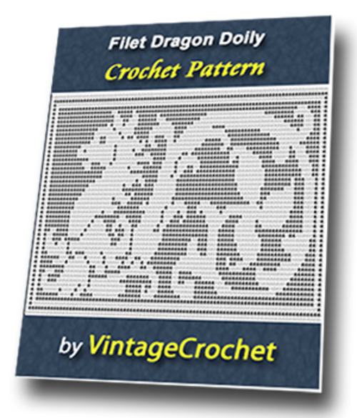Filet Dragon Doily Vintage Crochet Pattern Download Ebooks