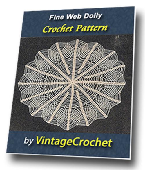 Pay for Fine Web Doily Vintage Crochet Pattern