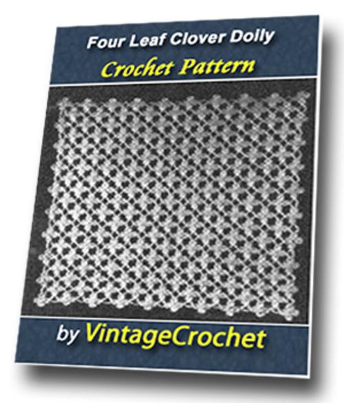 Pay for Four Leaf Clover Doily Vintage Crochet Pattern