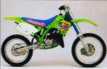 Thumbnail 1992-1993 Kawasaki KX125, KX250 Motorcycle Workshop Repair Service Manual