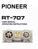 Thumbnail Pioneer RT-707 Reel-to-Reel owner user manual