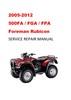 Thumbnail 2005-2012 Honda TRX 500 FA/FGA/FPA Service Repair Manual DL
