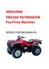 Thumbnail 2004-2006 Honda Rancher TRX350 TE/TM/FE/FM Service Manual