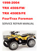 Thumbnail 1998-2004 TRX450S/FM/ES/FE Fourtrax Foreman Repair Manual