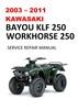 Thumbnail 2003-2011 Kawasaki Bayou KLF250 Service Repair Manual