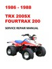 Thumbnail 1986-1988 TRX200SX Fourtrax Service Repair Workshop Manual