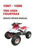 Thumbnail 1987-1988 TRX250X Fourtrax Service Repair Manual