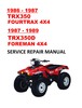 Thumbnail 1986-1989 TRX350 Fourtrax Foreman Service Repair Manual