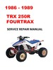 Thumbnail 1986-1989 TRX250R Fourtrax Service Repair Manual