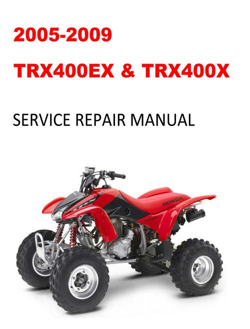 free 2005 2009 honda trx400ex 400x service repair manual. Black Bedroom Furniture Sets. Home Design Ideas