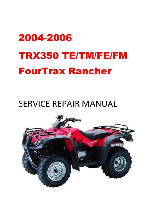 2006 Honda Rancher 350 Owners Manual Pdf