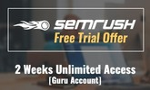 Thumbnail How To Get Trial SEMrush Guru Account Without Credit Card