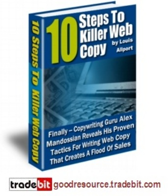 Pay for *New* 10 Steps to Killer Web Copy with Master Resell Rights
