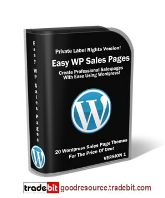 Pay for *New* Easy WordPress Sales Pages PLR