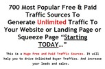 Thumbnail 700 Most Popular Traffic Sources