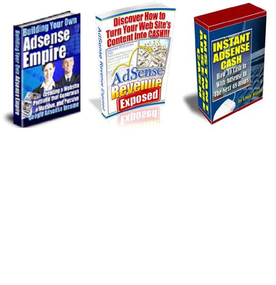 Pay for *BEST VALUE* 3-in-1 Adsense Ebook Pack - $7 with Master Resell Rights