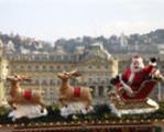 Weihnachtsmarkt Stuttgart Weihnachtsmann im Schlitten