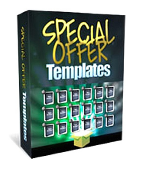 Pay for Special Offer Templates