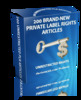 Thumbnail 200 PLR (Private Label Rights) Articles
