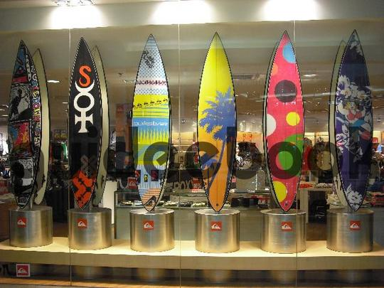 Pay for Surfboards In A Row