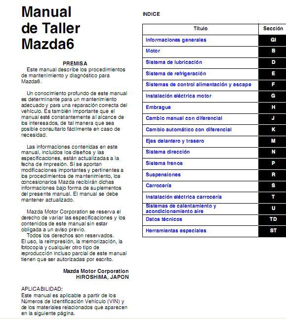 2008 mazda 6 repair manual