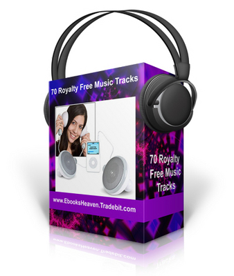Pay for 70 Royalty Free Music Tracks - High Quality mp3 (PLR)