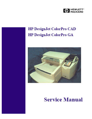 Pay for HP DesignJet ColorPro CAD GA Service Manual