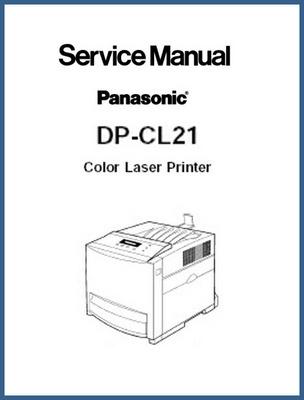 Pay for Panasonic DP-CL21 Color Laser Printer Service Manual