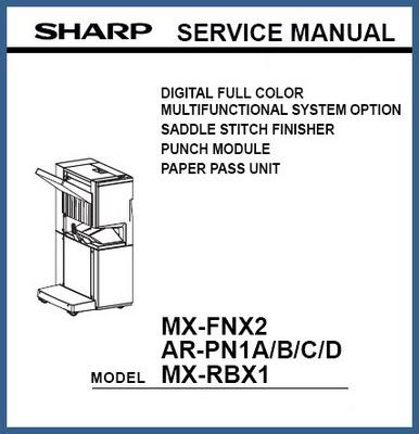 Pay for Sharp MX-FNX2, AR-PN1A/B/C/D, MX-RBX1 Service Manual