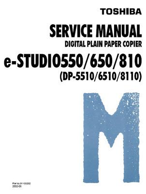 Pay for Toshiba e-studio 550/650/810 Digital Copier Service Manual