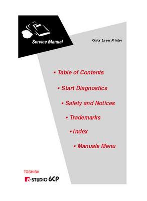 Pay for Toshiba e-Studio 6CP Service Manual
