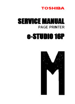 Pay for Toshiba e-Studio 16P Service Manual
