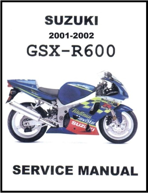 Pay for Suzuki GSX-R600 2001-2002 Motorcycle Service Manual