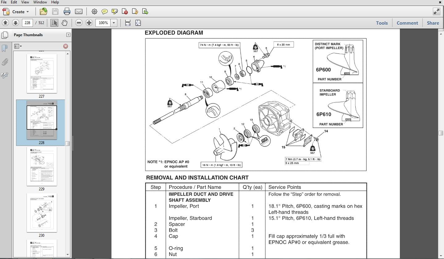 1997 yamaha waverunner gp1200 760 service manual wave. Black Bedroom Furniture Sets. Home Design Ideas